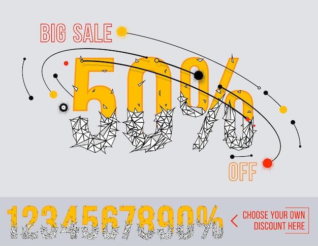 Big sale mit polygonalen zahlen super sale