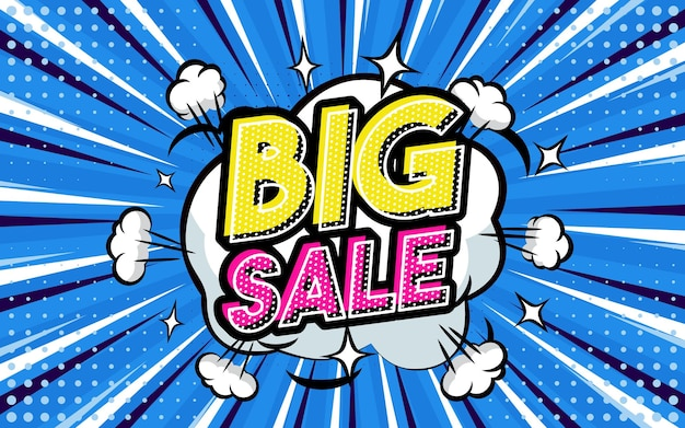 Big sale pop-art-stil-phrase comic-stil