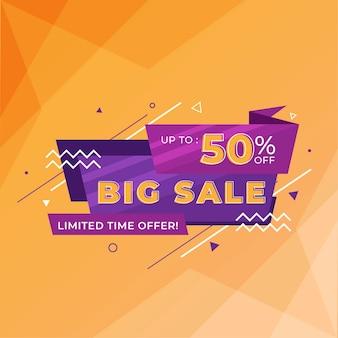 Big sale rabatt banner vorlage promotion