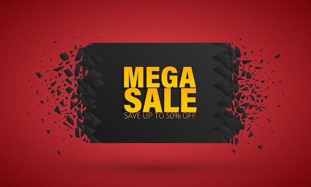Big sale sonderangebot. banner mit explosionseffekt.