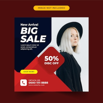 Big sale vorlage social media post