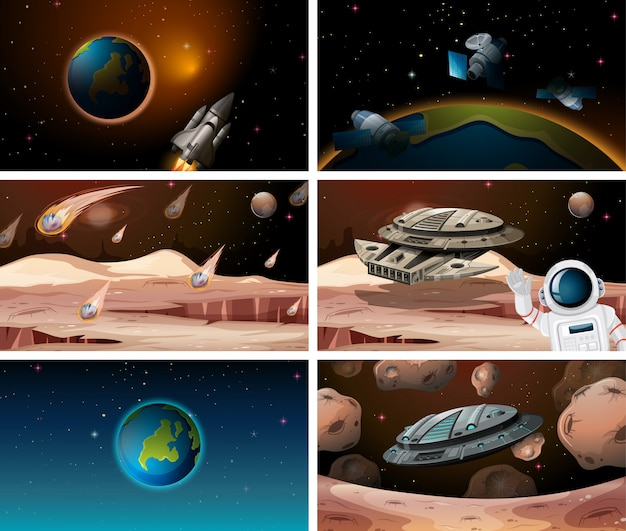 Big space scene set