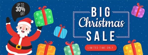 Big weihnachtsverkauf banner