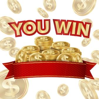Big win banner für online casino