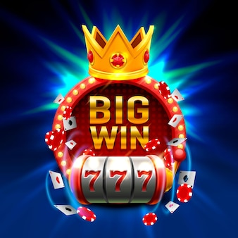 Big win slots 777 banner casino. vektor-illustration