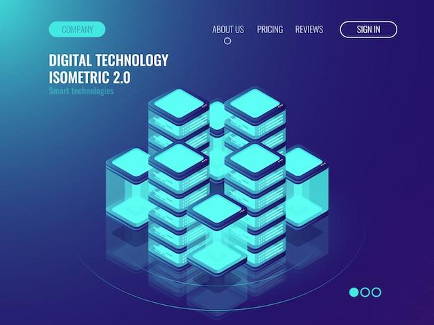 Bigdata-verarbeitung und rechenzentrumskonzept, serverraum