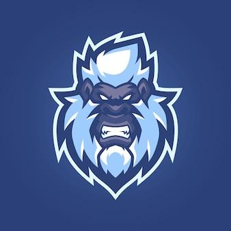 Bigfoot esports logo-vorlagen