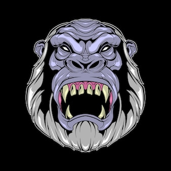 Bigfoot kopf illustration