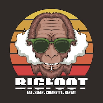 Bigfoot zigarette retro