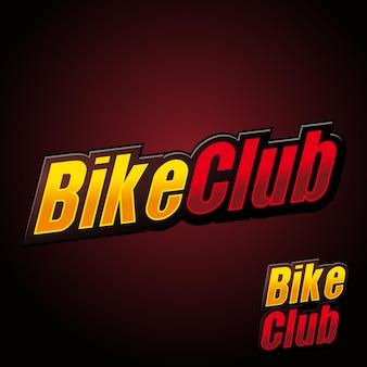 Bike club benutzerdefinierter text logo