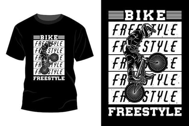 Bike freestyle t-shirt mockup design silhouette