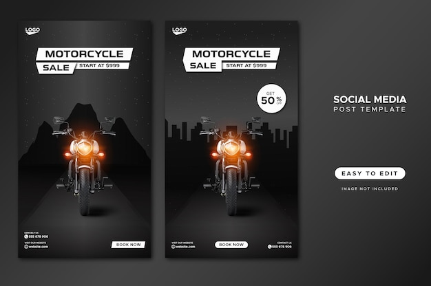Bike sale promotion social media banner vorlage Premium Vektoren