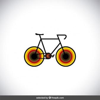 Bike-symbol mit bunten rädern