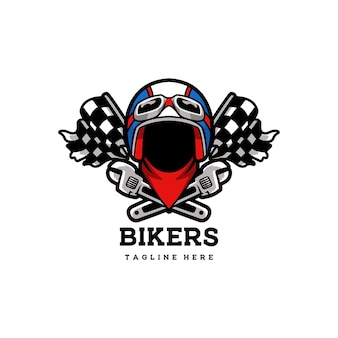 Biker club vintage abzeichen emblem helm motorrad retro