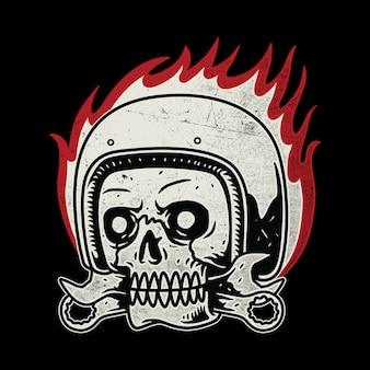 Biker fahrer motorrad linie grafik illustration kunst t-shirt design