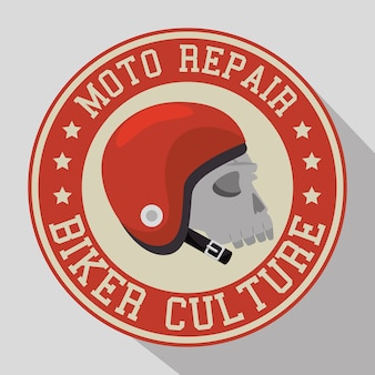 Biker kultur abzeichen und patch