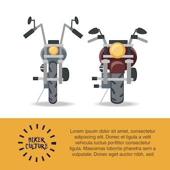Biker-kultur-infografik-präsentation mit motorrad-symbol