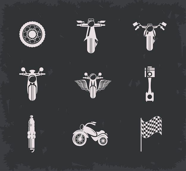 Biker-logo-set