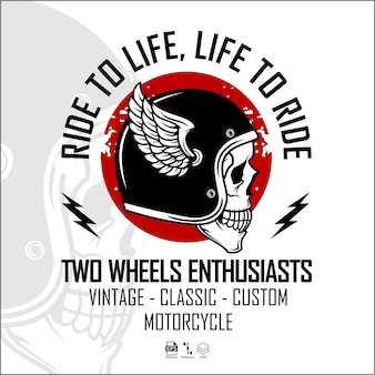 Biker-logo-vorlage bereit format eps 10