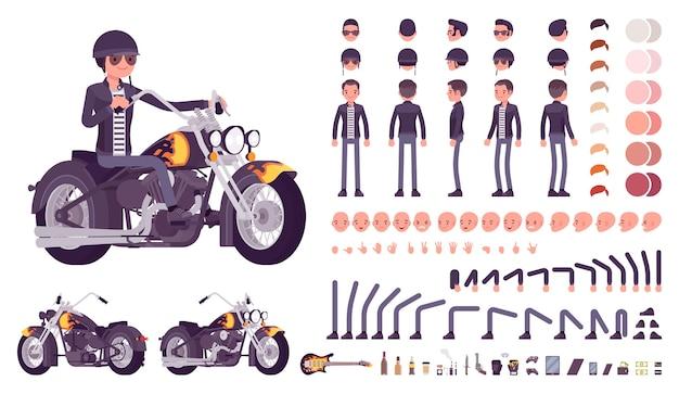 Biker-zeichensatz