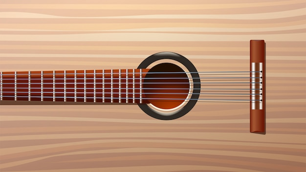 Bild der gitarre zurück Premium Vektoren