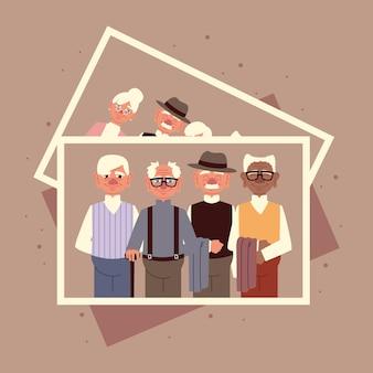 Bild von alten gruppenmännern