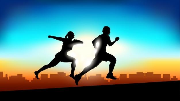 Bild von läufern