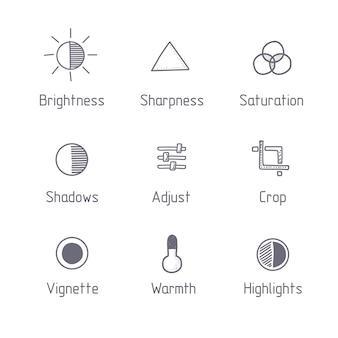 Bildbearbeitungssymbole