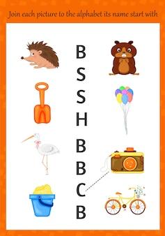 Bilder zum erlernen des alphabets für kinder