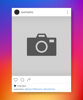 Bilderrahmen für soziale netzwerke. instagram. vektor-illustration