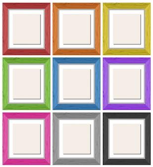 Bilderrahmen in neun verschiedenen farben