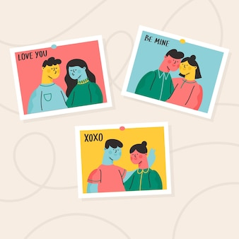 Bildersammlung des valentinstagspaares