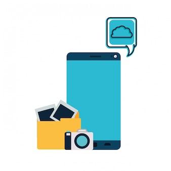 Bildschirm smartphoen mit kamera isoliert symbol