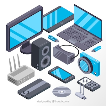 Bildschirme und isometrische elektronische geräte