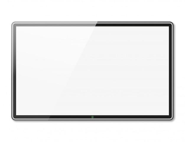Bildschirmfernsehen mit schatten