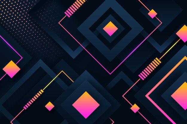 Bildschirmschoner für geometrische formen mit farbverlauf