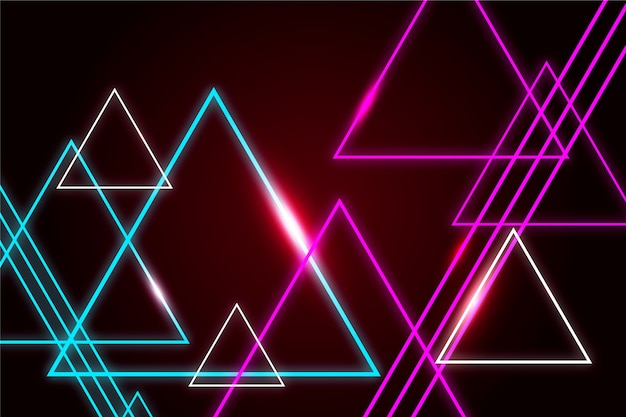 Bildschirmschoner von neonlichter mit geometrischen formen
