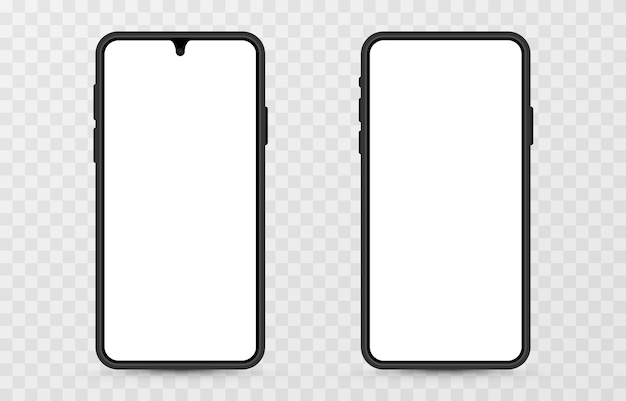 Bildschirmvektormodell. telefonmodell mit leerem bildschirm. leerer bildschirm für text, design. png.
