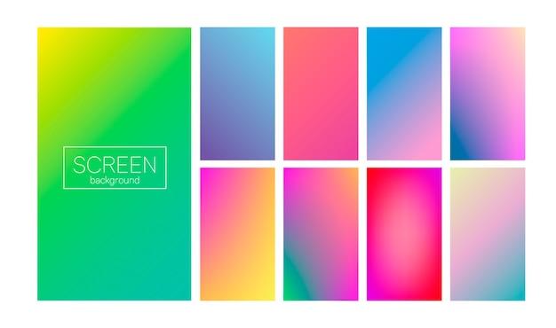Bildschirmverlaufssatz mit modernen abstrakten hintergründen