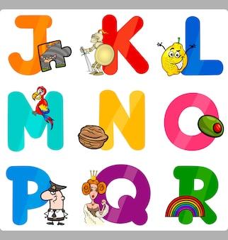 Bildung cartoon alphabet buchstaben für kinder