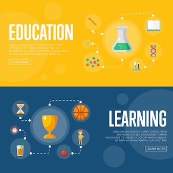Bildung infografiken banner
