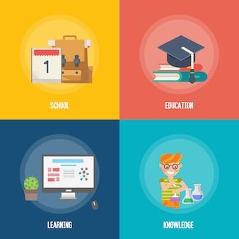 Bildung-infografiken-symbol