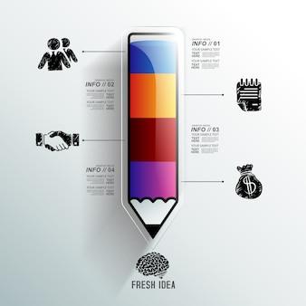Bildung infographik vorlage