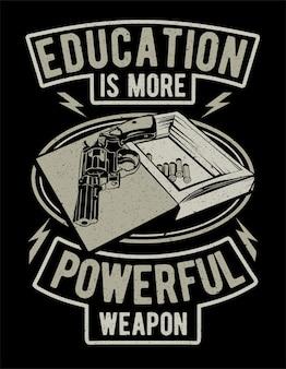 Bildung ist eine mächtigere waffe