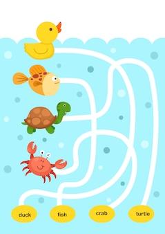 Bildung labyrinth spiel illustration