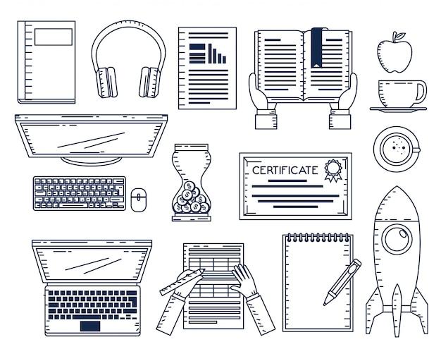 Bildung on-line stellen ikonen ein