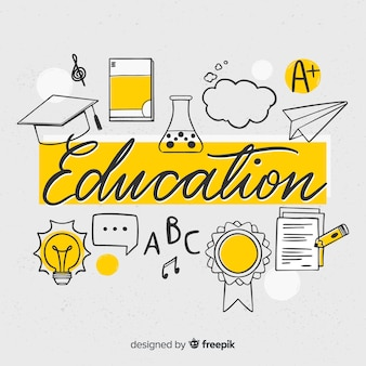 Bildung schriftzug