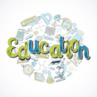 Bildung-schriftzug