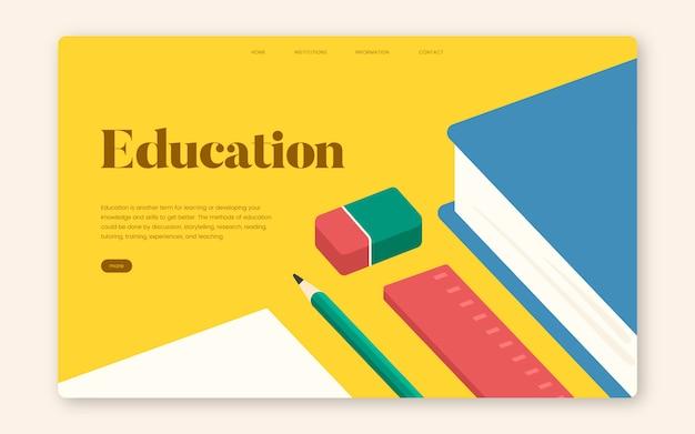 Bildung und lernen informativer website grafik