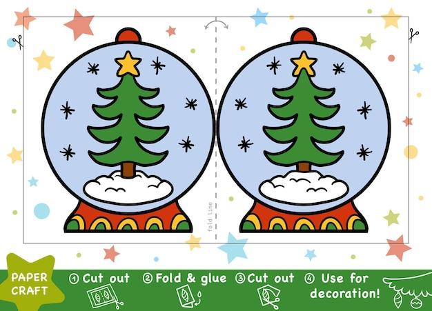 Bildung weihnachtspapier basteln für kinder schneeball und weihnachtsbaum
